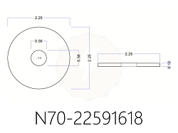 Thick N70 Series Neoprene Rubber Washers 2 1/4