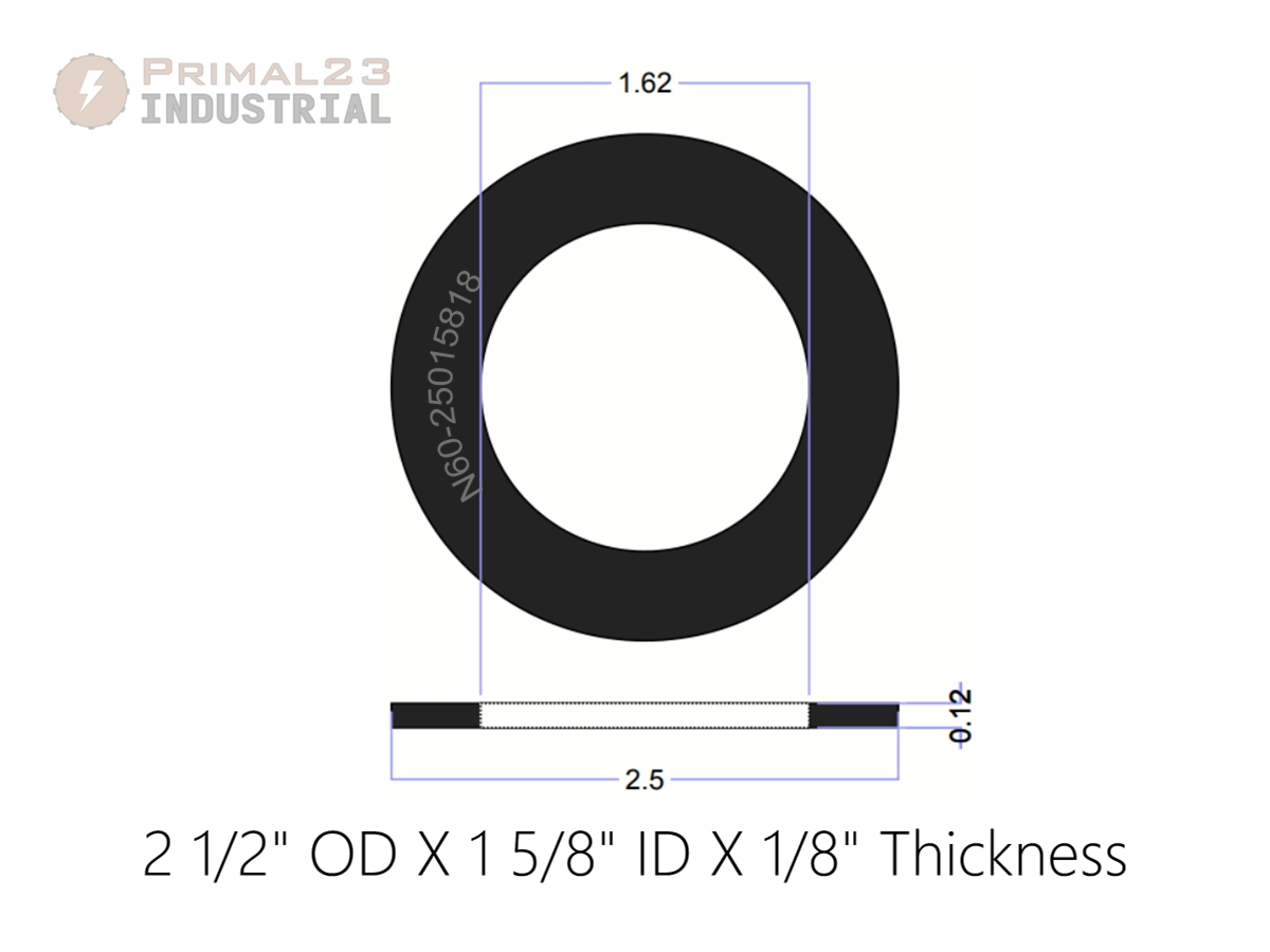 """Neoprene Rubber Washer Spacer 2/"""" OD x 1//2/"""" ID x 1//2/"""" thick"""