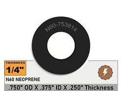 3/4 OD X 3/8 ID X 1/4 Thickness Oil Resistant Neoprene Rubber Washers