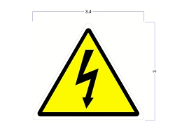 Modern Industrial Safety Stickers - Arc Flash - High Voltage Safety Identification Stickers - 3 Inch Triangle