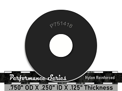 3/4 OD X 1/4 ID X 1/8 Thickness 2 Ply Nylon Reinforced Neoprene Rubber Washers - Performance Series