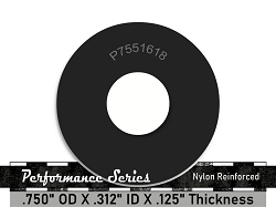 3/4 OD X 5/16 ID X 1/8 Thickness 2 Ply Nylon Reinforced Neoprene Rubber Washers - Performance Series