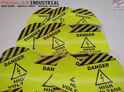 (10) Safety Stickers - DANGER HIGH VOLTAGE Stickers - 3