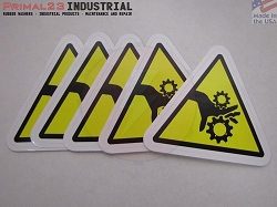 (5) Safety Stickers - Pinch Point Safety Indentification Stickers - 3