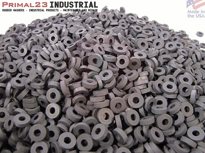 "1/2"" OD X 1/4"" ID X 1/8"" Thickness Premium Quality - Die Cut EPDM Rubber Washers - EPDM Series"