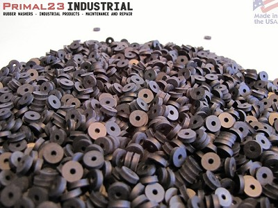 "(Tiny) Rubber Washers - 1/4"" OD X 1/16"" ID X 1/16"" EPDM Rubber Spacers / Washers - EPDM Series"