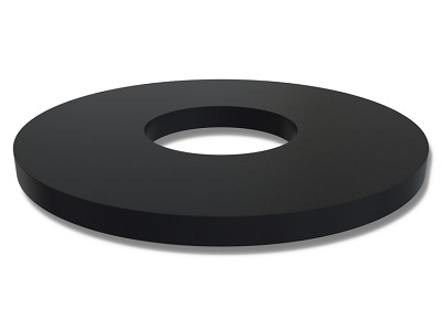 "EPDM70 Series Rubber Washers - 2.00"" OD X 3/4"" ID X 1/8"" EPDM Rubber Washers - 70 Duro"