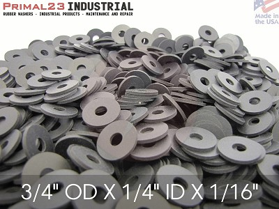 "3/4"" X OD 1/4"" ID X 1/16""  Thickness Neoprene Rubber Washers - Endeavor Series"