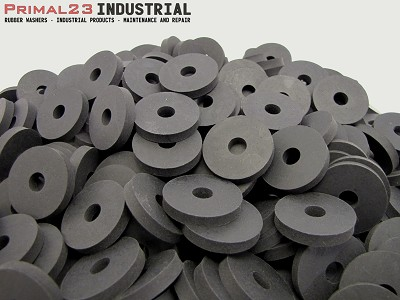 "Thick Neoprene Rubber Washers 1 1/2"" OD X 3/8"" ID X 1/4"" Thickness 60 Duro Shore A Hardness"