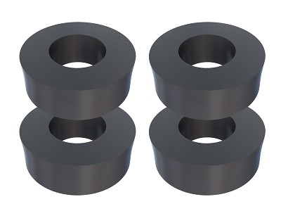 "Thick Neoprene Rubber Washers 3/4"" OD X 3/8"" ID X 1/4"" Thickness 60 Duro Shore A Hardness"