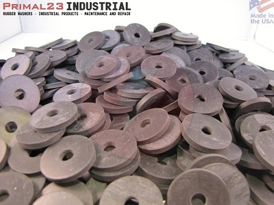 "EPDM Rubber Washers 1"" OD X 1/4"" ID X 1/8"" Thickness 70 Duro"