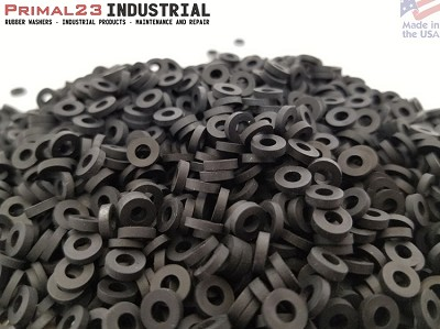 "(Tiny) Electronics Rubber Washers - 1/4"" OD X 1/8"" ID X 1/16"" Thickness EPDM Rubber"
