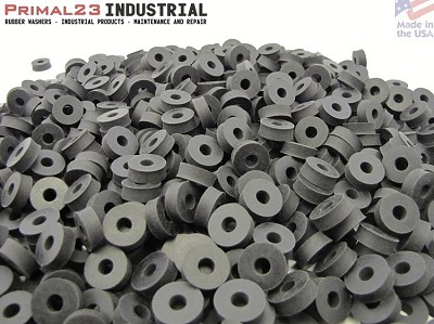 "Thick Neoprene Rubber Washers 3/4"" OD X 1/4"" ID X 1/4"" Thickness 60 Duro Shore A Hardness"